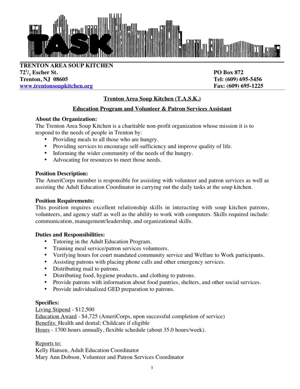 Americorps resume template
