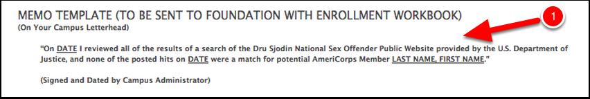 National sex offender registry check