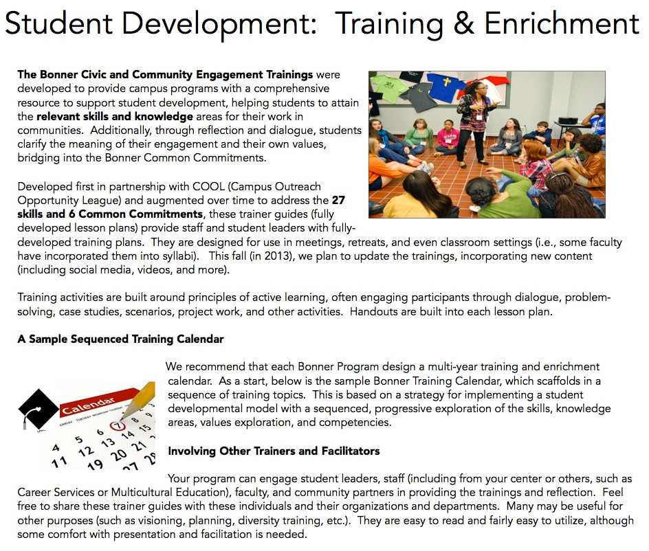 Training And Enrichment Resources